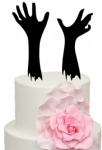 Zombie Spooky Hands Acrylic Cake Topper